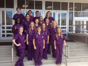 students in scrubs